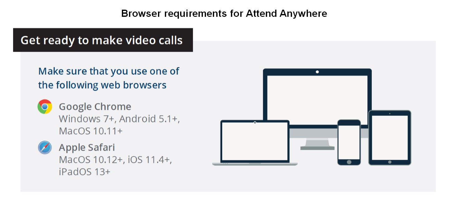 Browser requirements for Attend Anywhere