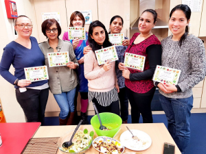 Ladies that have completed our Cook & Eat course
