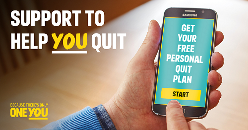 Personal Quit Plan on mobile screen