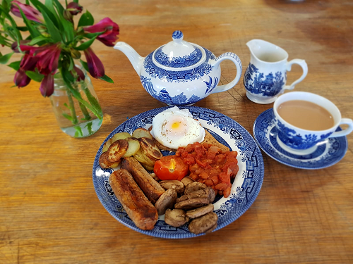 Healthier Traditional English Breakfast