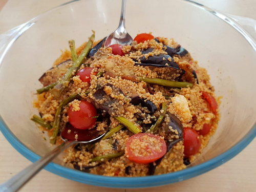 Roasted vegtable couscous salad