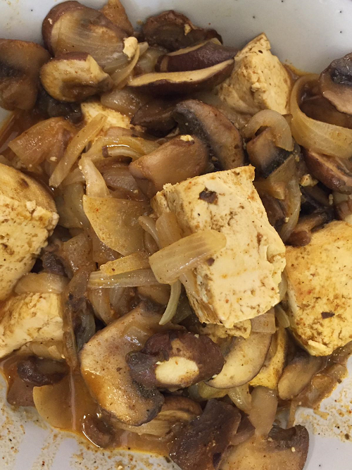 Tofu and mushroom curry