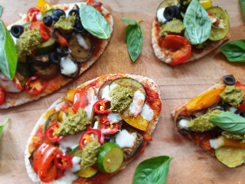 Wholemeal pizzas